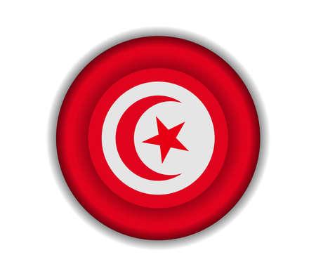 tunisia: button flags tunisia
