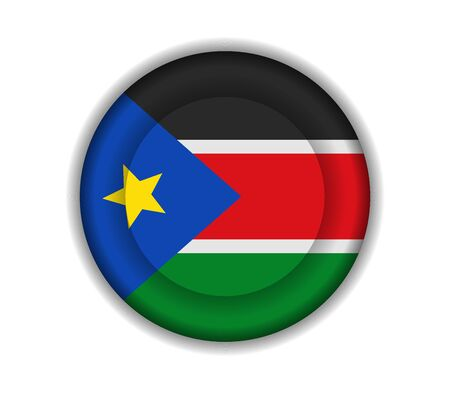 south sudan: button flags south sudan Illustration