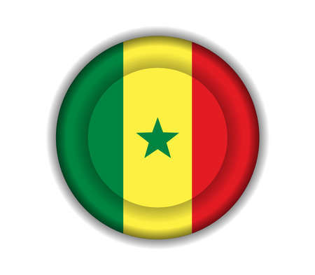 senegal: button flags senegal