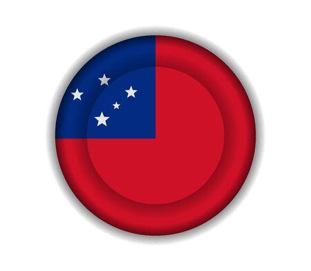samoa: button flags samoa