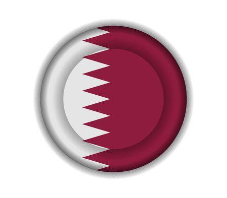 qatar: button flags qatar