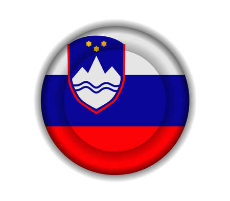 slovenia: button flags slovenia
