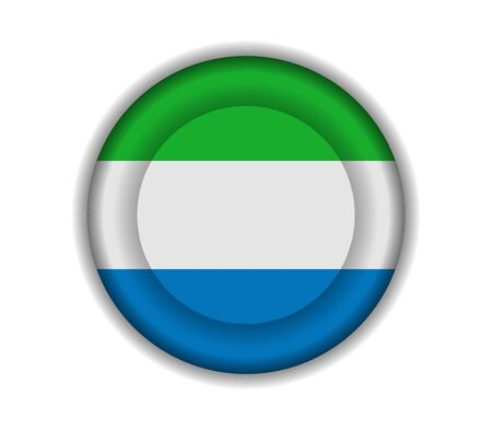 sierra: button flags sierra leone Illustration