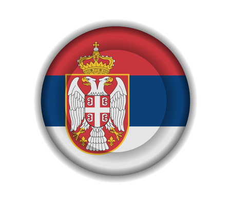 serbia: button flags serbia Illustration