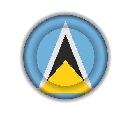 lucia: button flags saint lucia Illustration