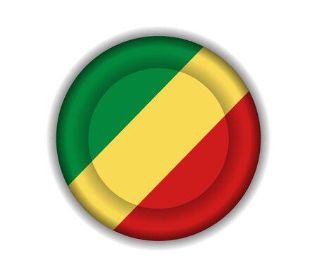 republic of the congo: button flags republic congo