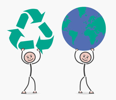 environment geography: children recycling planet