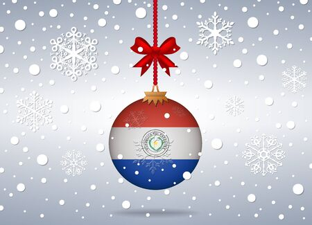 paraguay: christmas background paraguay