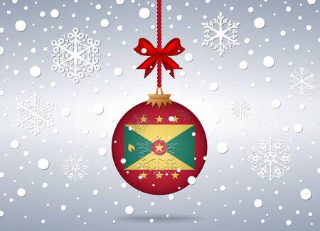grenada: christmas background grenada Illustration