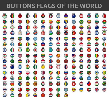 knoppen vlaggen van de wereld