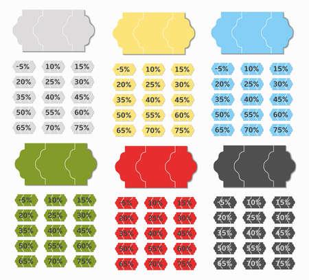 liquidation: discount price tag colors