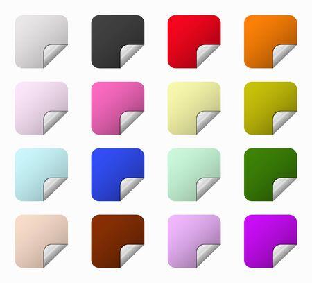 rebate: set squares colored labels