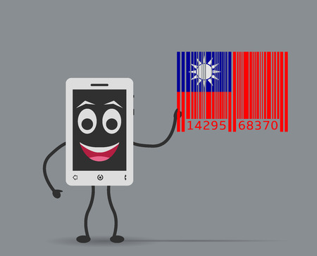 manufactured: mobile manufactured in taiwan Illustration