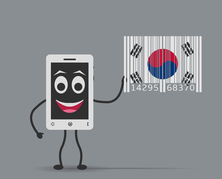 manufactured: mobile manufactured in korea Illustration