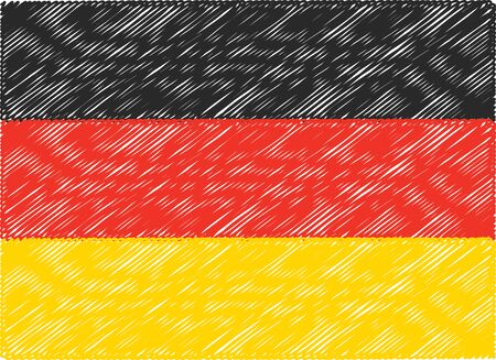 germany flag: germany flag embroidered zigzag