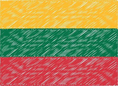 lithuania flag: lithuania flag embroidered zigzag