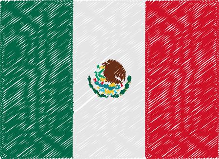 bandera mexico: M�xico bandera bordada en zigzag