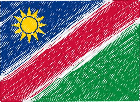 namibia: namibia flag embroidered zigzag