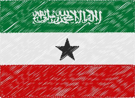 somaliland: somaliland flag embroidered zigzag Illustration