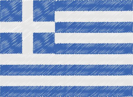 greece flag: greece flag embroidered zigzag