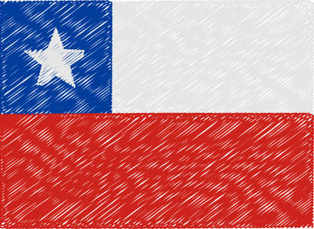 chile flag: chile flag embroidered zigzag