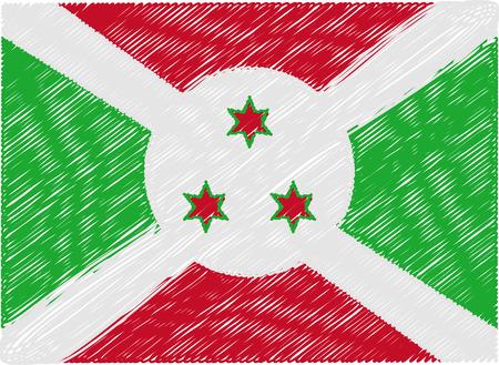 burundi: burundi flag embroidered zigzag