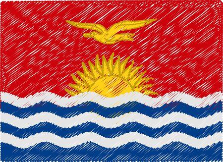 kiribati: kiribati flag embroidered zigzag