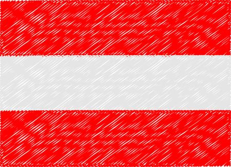 austria flag: austria flag embroidered zigzag