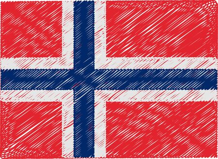 norway: norway flag embroidered zigzag