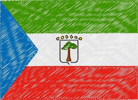 equatorial guinea: equatorial guinea flag embroidered zigzag
