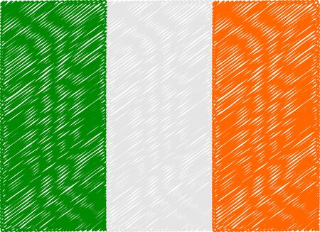 bandera de irlanda: irlanda bandera bordada en zigzag
