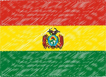 bandera bolivia: Bolivia bandera bordada en zigzag