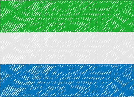 sierra: sierra leone flag embroidered zigzag