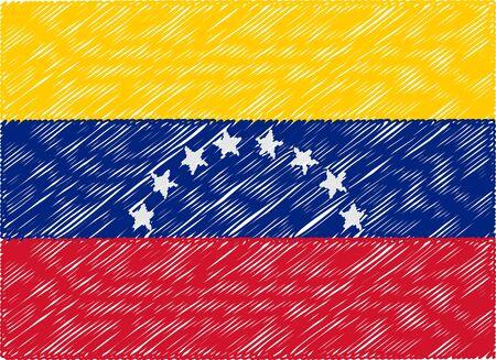 bandera de venezuela: Venezuela bandera bordada en zigzag