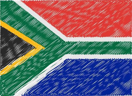 sudafrica: south africa flag embroidered zigzag