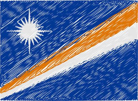 marshall: marshall islands flag embroidered zigzag