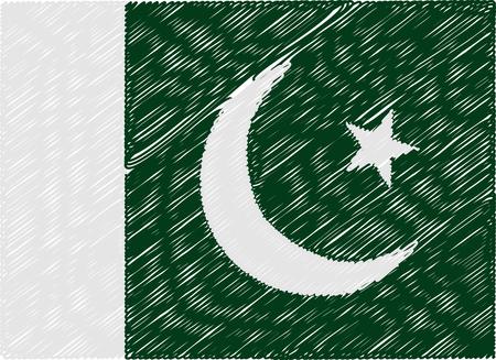 pakistan flag: pakistan flag embroidered zigzag
