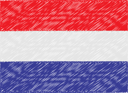 netherlands flag: netherlands flag embroidered zigzag