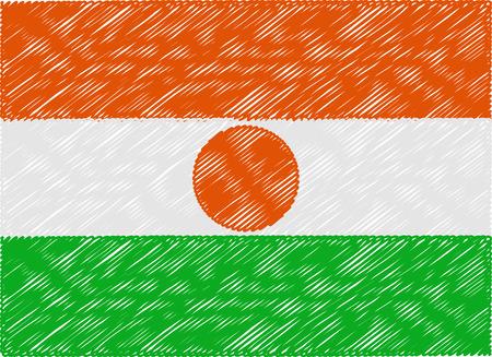 niger: niger flag embroidered zigzag