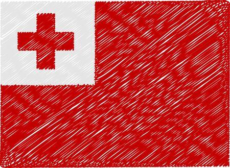 tonga: tonga flag embroidered zigzag Illustration