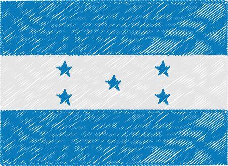 bandera honduras: Honduras bandera bordada en zigzag