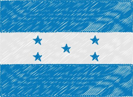 honduras: honduras flag embroidered zigzag