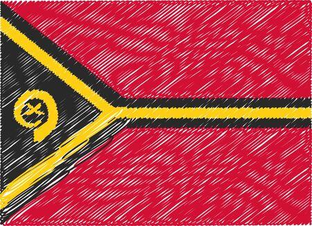 vanuatu: vanuatu flag embroidered zigzag