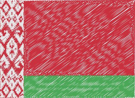 belarus: belarus flag embroidered zigzag
