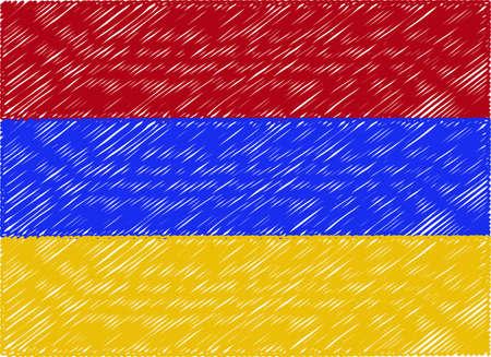 armenia: armenia flag embroidered zigzag