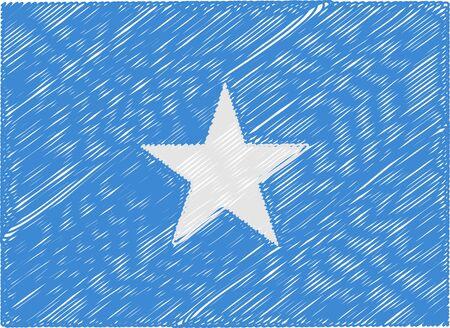 somalia: somalia flag embroidered zigzag