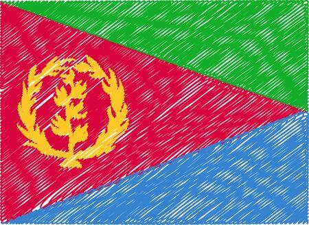 eritrea: eritrea flag embroidered zigzag