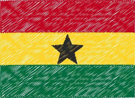 Ghana: ghana flag embroidered zigzag