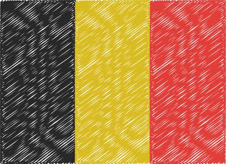 belgium flag: belgium flag embroidered zigzag