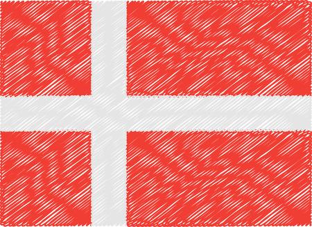 denmark flag: denmark flag embroidered zigzag